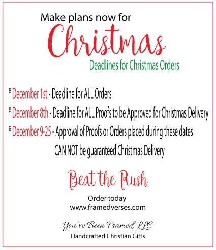 2016 Christmas Deadlines