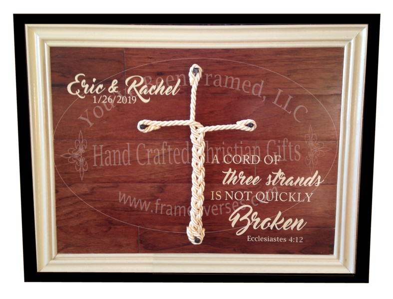 Cord of Three Strands  Wedding Ceremony Keepsake