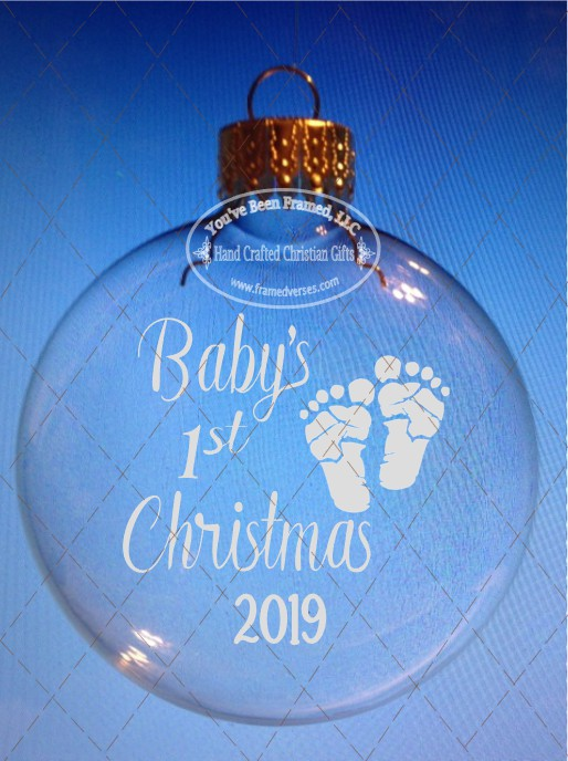 Sandblasted Baby's First Christmas