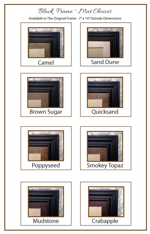 Black Frame & Mat Choices