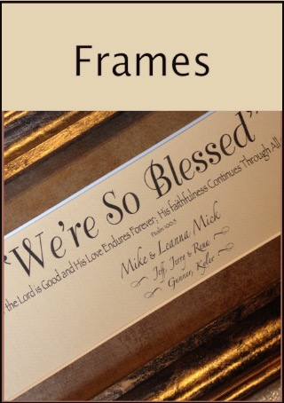 The Original Size  Framed Bible Verses
