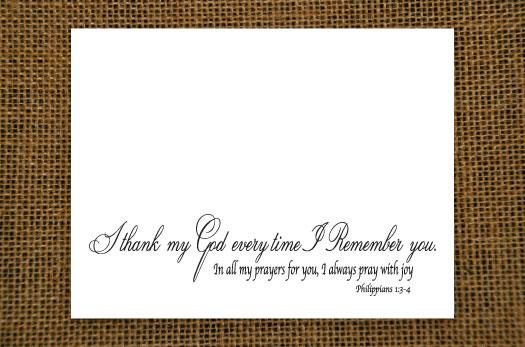 Thank - Grace Notecard