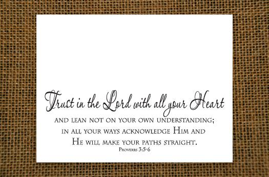 Trust - Grace Notecard