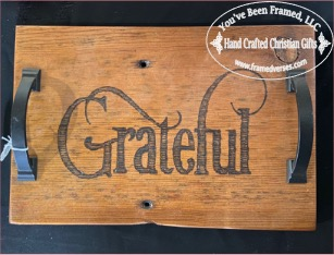 Grateful Tray with Handles