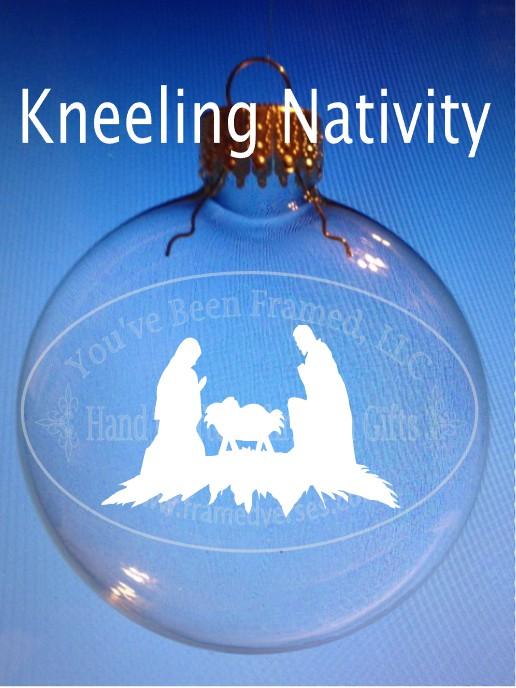 Sandblasted Kneeling Nativity