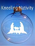 Sandblasted Kneeling Nativity
