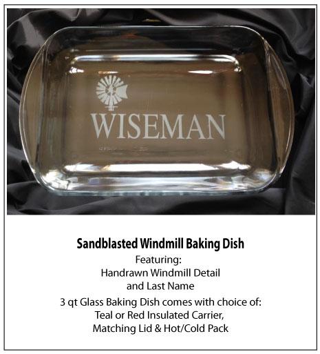 Sandblasted Windmill Baking Dish