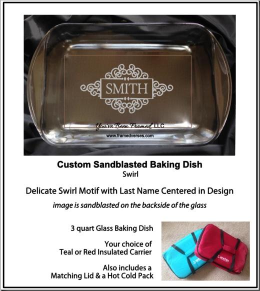 #LSBS Sandblasted Swirl Baking Dish