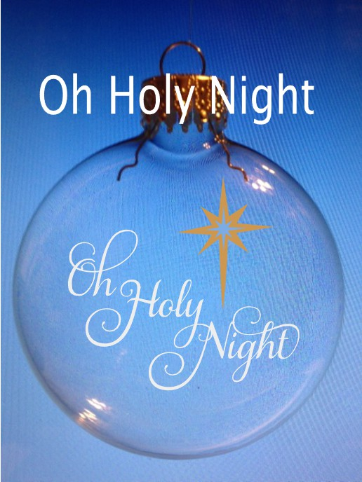 Sandblasted Oh Holy Night Ornament