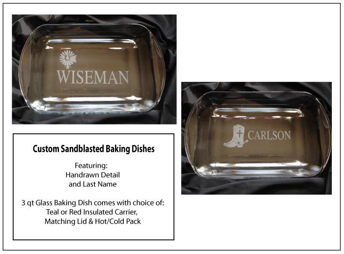 Sandblasted Baking Dishes