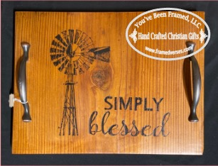 Simply Blessed Windmill Tray with Handles