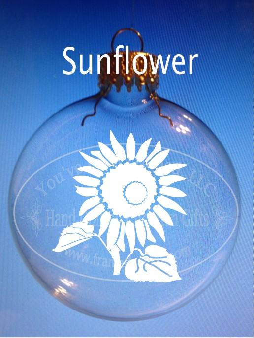 Sandblasted Sunflower Ornament