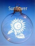 Sandblasted Sunflower Ornament