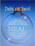 Sandblasted Delicate Swirl Ornament