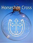Sandblasted Horseshoe Cross Ornament